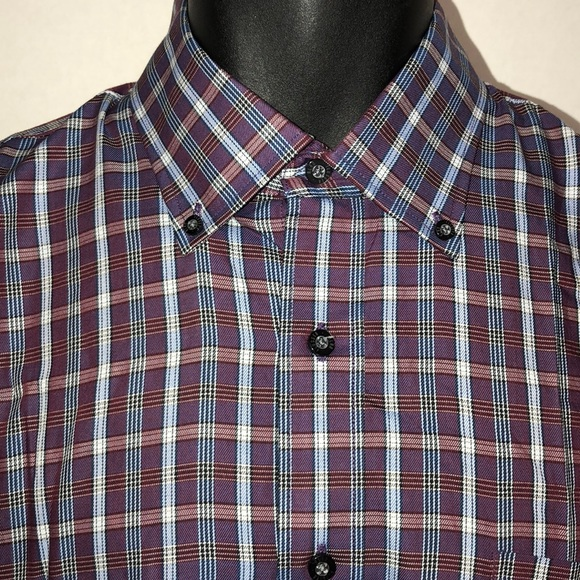Alan Flusser Other - 👍Final Price Alan Flusser Purple Plaid Shirt